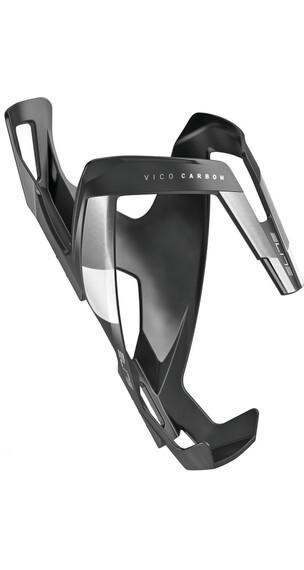 Elite Vico Flaschenhalter Carbon schwarz matt/weiß